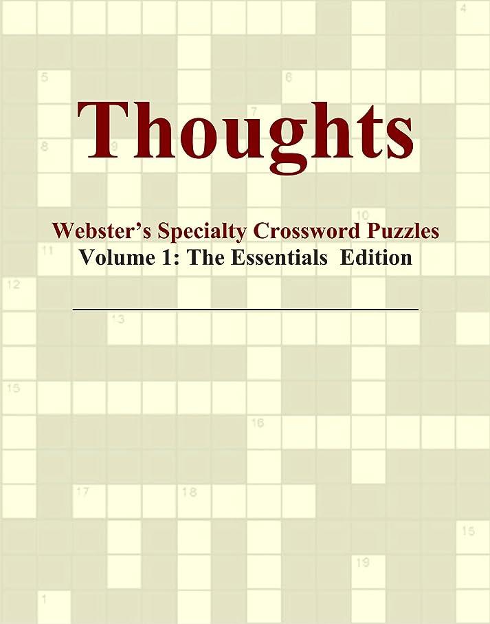 深める項目不公平Thoughts - Webster's Specialty Crossword Puzzles, Volume 1: The Essentials Edition
