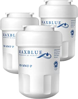 Maxblue NSF 53&42 Certified Refrigerator Water Filter, Replacement for GE MWF, SmartWater, MWFP, MWFA, GWF, HDX FMG-1, WFC1201, GSE25GSHECSS, PC75009, RWF1060, 197D6321P006, Pack of 3