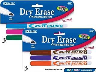 BAZIC Bright Color Fine Tip Dry-Erase Marker (3/Pack) (Case of 24)