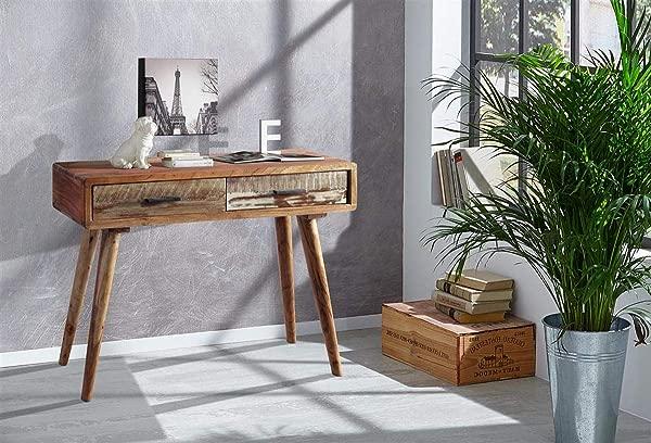 设计师木控制台与月抽屉由天然皂荚木