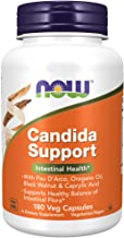 NOW Supplements, Candida Support with Pau D'Arco, Oregano Oil, Black Walnut & Caprylic Acid, 180 Veg Capsules