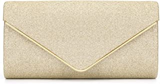Evening Bag - Women's Envelope Evening Bag, Clutch, Elegant and Charming, Suitable for Party, Banquets, Cocktail Parties (Color : Yellow)