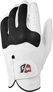 Wilson Staff Glove, Conform Glove, L, for Men, Left Hand, White/Black, Frottee/Cabretta-Leather, WGJA00314L