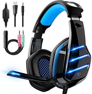 Gaming Headset for PS4 PS5 Xbox One PC Switch Laptop with 7.1 Surround Sound, Gaming Headphones...