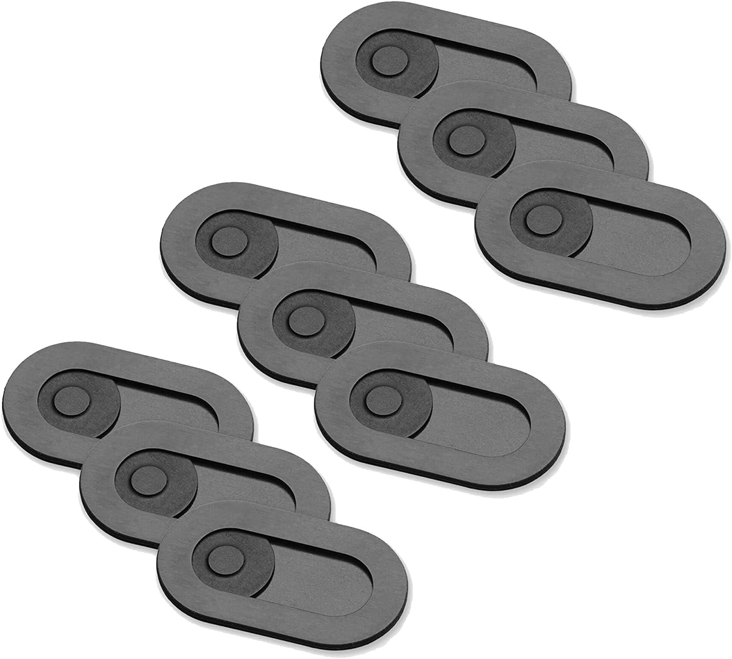 The Original Spyslide Premium Webcam Cover | 9-Pack Black | Ultra Thin (0.023 inch) | Fits Laptops, MacBook, Tablets & Smartphones | 100% Scratch Resistant | Made from Stainless Steel | by Spy-Fy