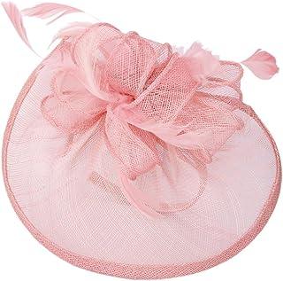 Aliceband Hat Fascinator Feather Headband Wedding Lady Royal Ascot Pink by Generic
