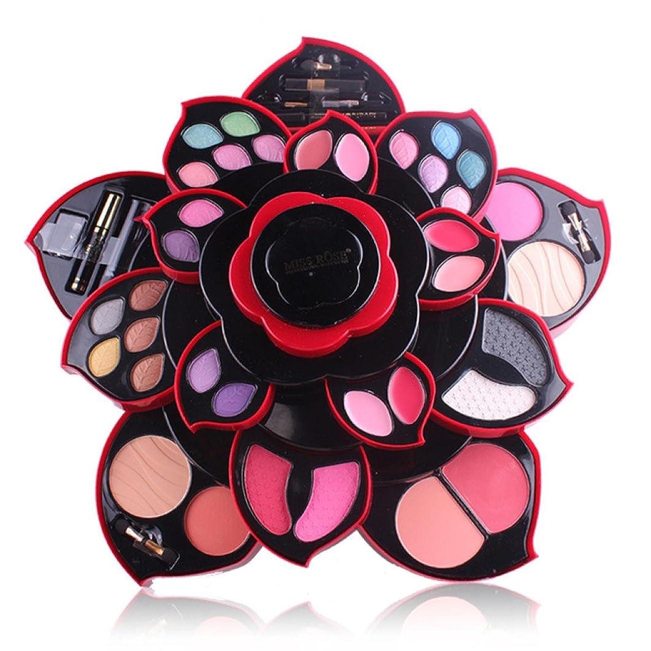 ビューティー アイシャドー wwkeiying アイシャドウセット ファッション 23色 梅の花デザイン メイクボックス 回転多機能化粧品 プロ化粧師 メイクの達人 プレゼント (02)