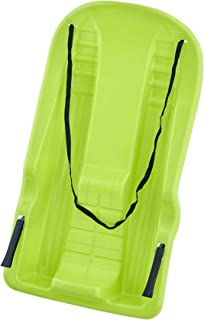 """Superio Downhill Snow Sled with Brake Handles for Kids and Adults, 35"""", with Pull Rope, Green."""