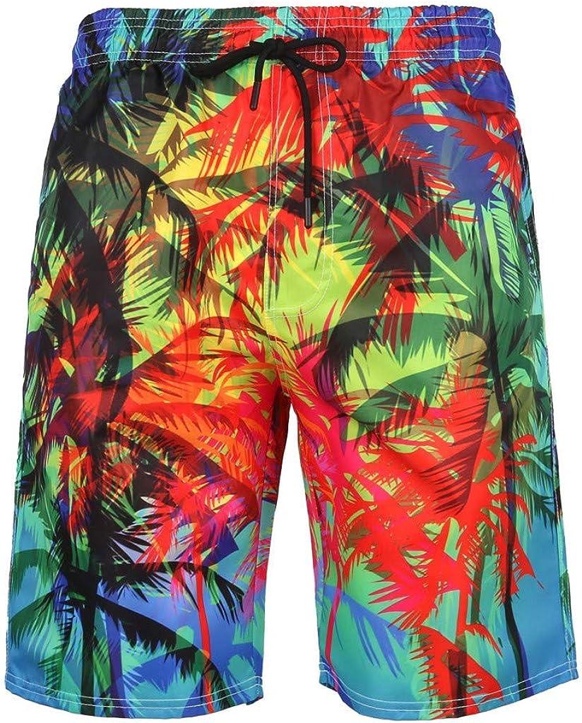 New Forthery Mens 3D Printed Swim Trunks Summer Beach Quick Dry Beachwear Sports Running Swim with Pocket(Multicolor,XXXXXXL)