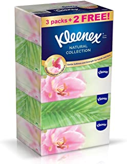 Kleenex Natural Collections 2 Ply Facial Tissue - 170 Sheets x 5 Boxes