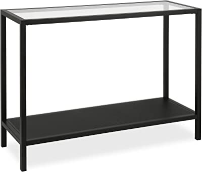 Amazon Com Chrome Metal Glass Accent Console Sofa Table