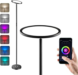 Anten LED Lámpara de Pie Regulable, WiFi Inteligente Luz de Pie Salon Multicolor Funciona Compatible Alexa/Google Home, 25...