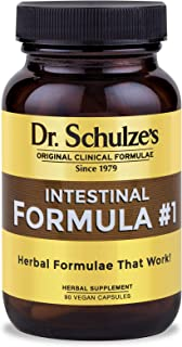 Dr. Schulze's Colon Bowel Cleanse; Intestinal Formula #1 - All Natural - 90 Count Capsules