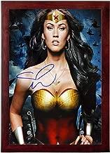 Megan Fox Autograph Replica Super Print - Wonder Woman - Portrait - Framed