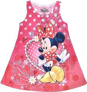 فستان للفتيات الصغيرات مطبوع عليه Minnie Mouse Love Heart (مقاس كبير)