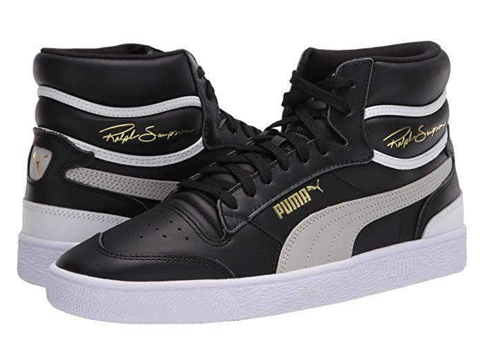 PUMA  Ralph Sampson Mid ( Black/Gray Violet/ White) Mens Shoes