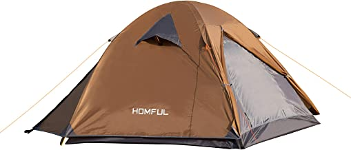 HOMFUL Camping Tent 2 Person,Ultralight Backpacking Tent Waterproof Windproof 2 Doors Tent Easy Setup for Hiking,Climbing,...
