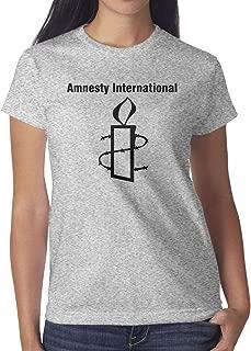 Amnesty International Women's Casual T-Shirt Slim Fit Shirt Comfort Soft