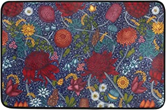Flowers Doormat, Entry Way Indoor Outdoor Door Rug with Non Slip Backing, (23.6 x 15.7-Inch)