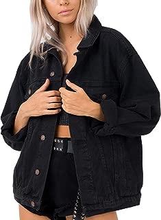 Best womens black denim jacket oversized Reviews