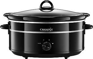 Crock-Pot SCV655B-IUK Olla de cocción lenta, 6.5 litros, Negro