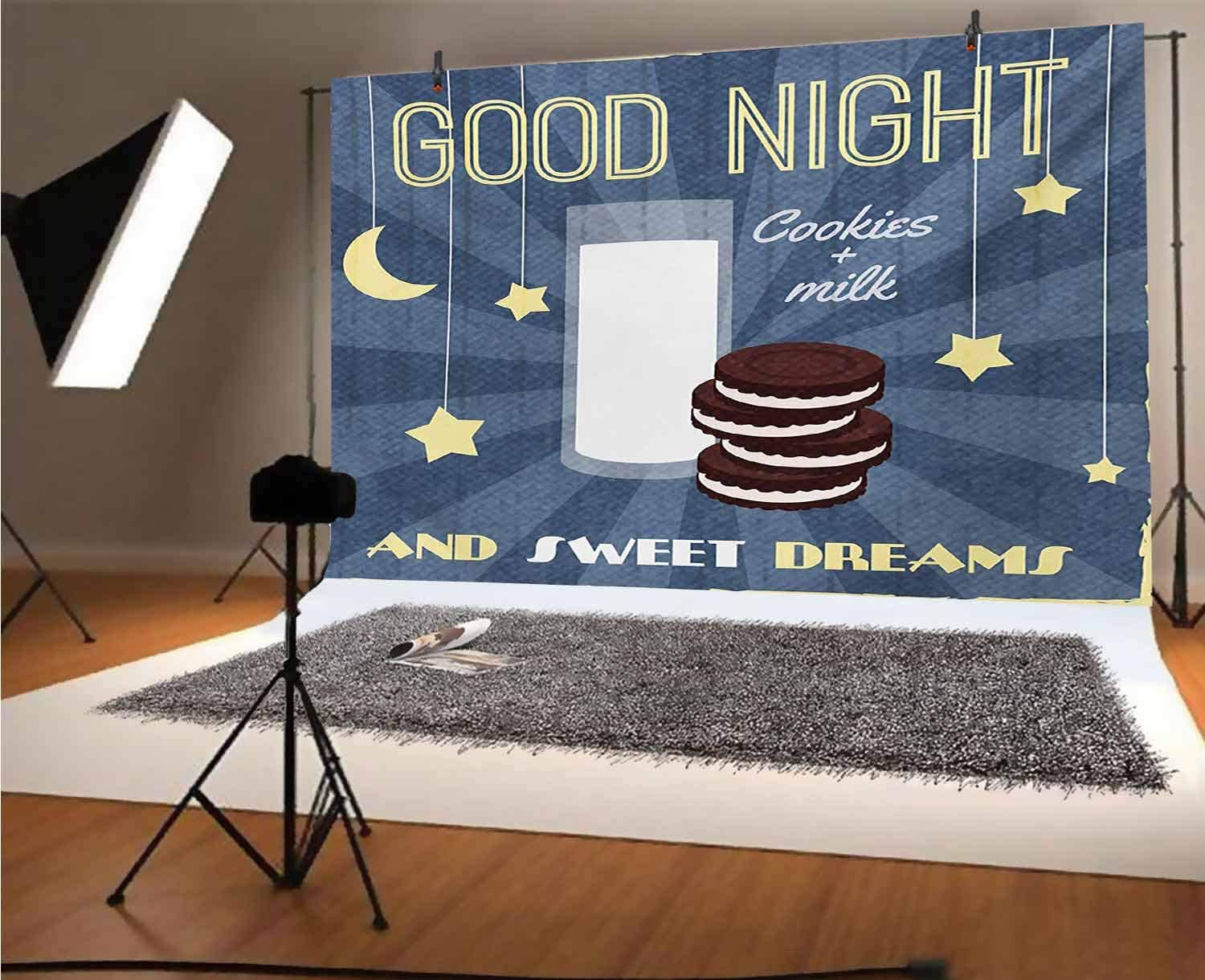 Gothic 8x6 FT Vinyl Photography Background Backdrops,Medieval Castle at Night with Old Arch and Candles Middle Age Misty Image Background for Photo Backdrop Studio Props Photo Backdrop Wall
