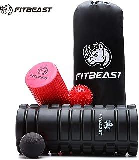 FitBeast Rodillos de Espuma para Ejercicios musculares para Masaje Muscular, Punto de activación, Rodillo de Yoga