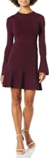 Parker womens Lois long sleeve fit to flare knit dress Dress