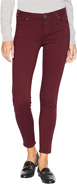 Donna Ankle Skinny Jeans in Deep Plum