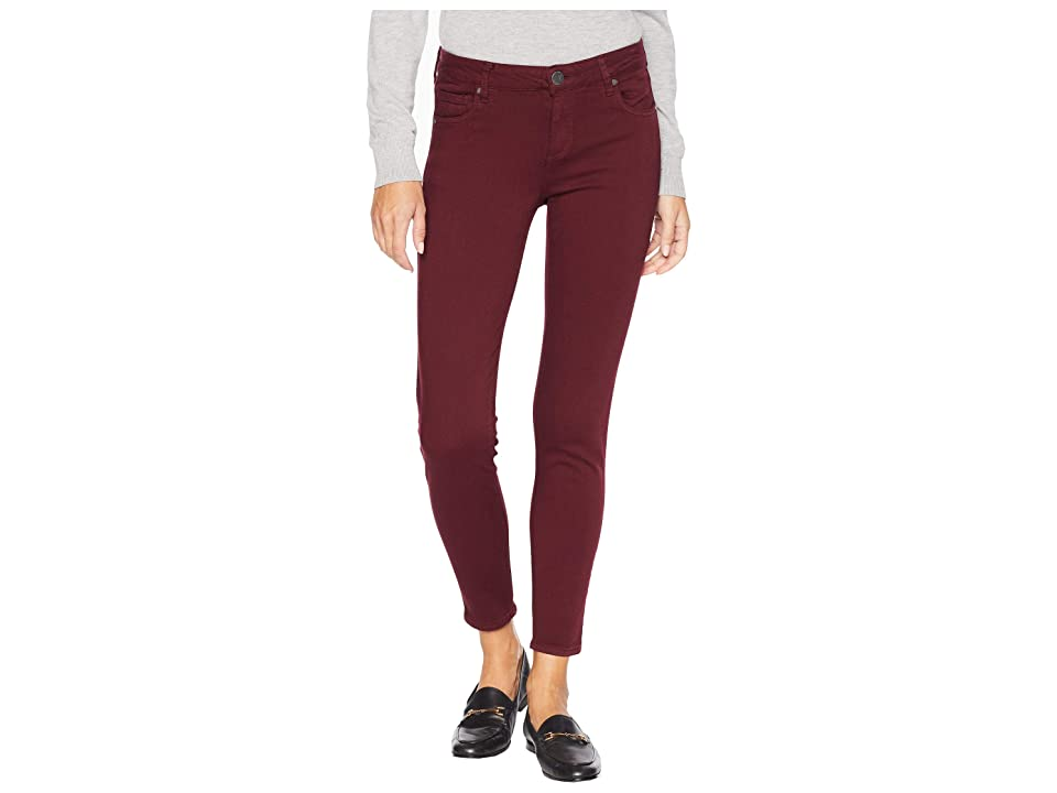 KUT from the Kloth Donna Ankle Skinny Jeans in Deep Plum (Deep Plum) Women