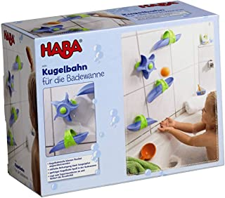 HABA Bathtub Ball Track - 6 Piece Play Set - Fosters Experimentation & Creativity for Ages 3 and Up