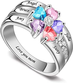 mom ring silver gold and rose Mom rings Mother\u2019s Day gifts rhinestone Mother\u2019s Day ring Mom gifts