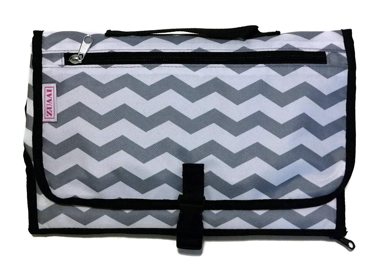 Baby Changing Mat, diapers, baby wipes, infant formula stored and travel sized diaper bag portable pouch
