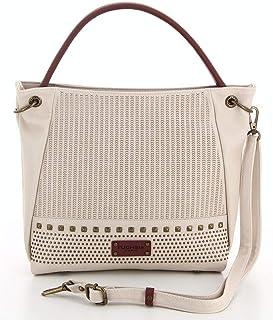 78550b1bbc Fuchsia - Grand sac porté épaule ethnique avec clous femme simili cuir  (f9820-6
