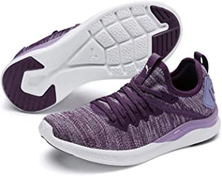 PUMA Kids' Ignite Flash Evoknit Jr Sneaker, Sweet Lavender White-Indigo