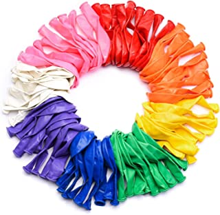 Multicolor Latex Balloons - Pack of 100 , 12 Inch Size I Rainbow Theme Decorations I Baby Shower, Engagement, Weddings, Pr...