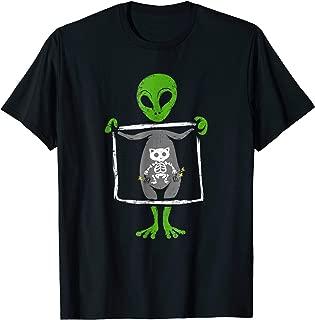 Funny Alien Cat Shirt Xray