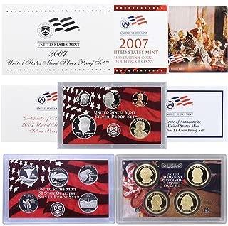 2007 S U.S. Mint Silver Proof Set - 14 Coins - OGP Superb Gem Uncirculated