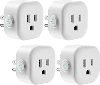 WiFi Smart Plug, Maxcio Smart Outlet Compatible with Alexa Echo, Google Home for Voice Control, Remote Control, Ifttt Enabled, Alexa Smart Plug Mini with Timing Function, No Hub Required, 10A - 4 Pack