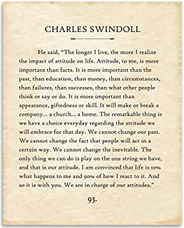 Charles Swindoll - The Longer I Live - 11x14 Unframed Typography Book Page Print - Great Inspirational Gift and Home and Office Decor Under $15
