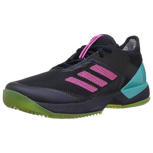 newest 78a47 1c45a Amazon.com  adidas Womens Adizero Ubersonic 3 Clay  Tennis  Racquet  Sports