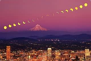2017 Great Solar Eclipse Over Portland, Oregon Photo Metal Art Print by Steve Terrill (24