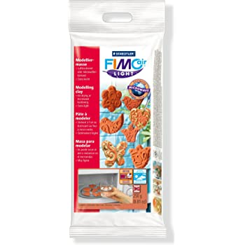 Staedtler Fimo Air Light 8131-76 Air Drying or Microwave Hardening Modelling Clay 250g - Terracotta