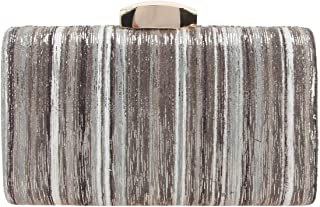 Fawziya Fashion Gold Stripes Gradient Color Evening Clutch Bags For Women