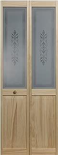 Pinecroft 885728 Tapestry Half Glass Bifold Interior Wood Door, 32