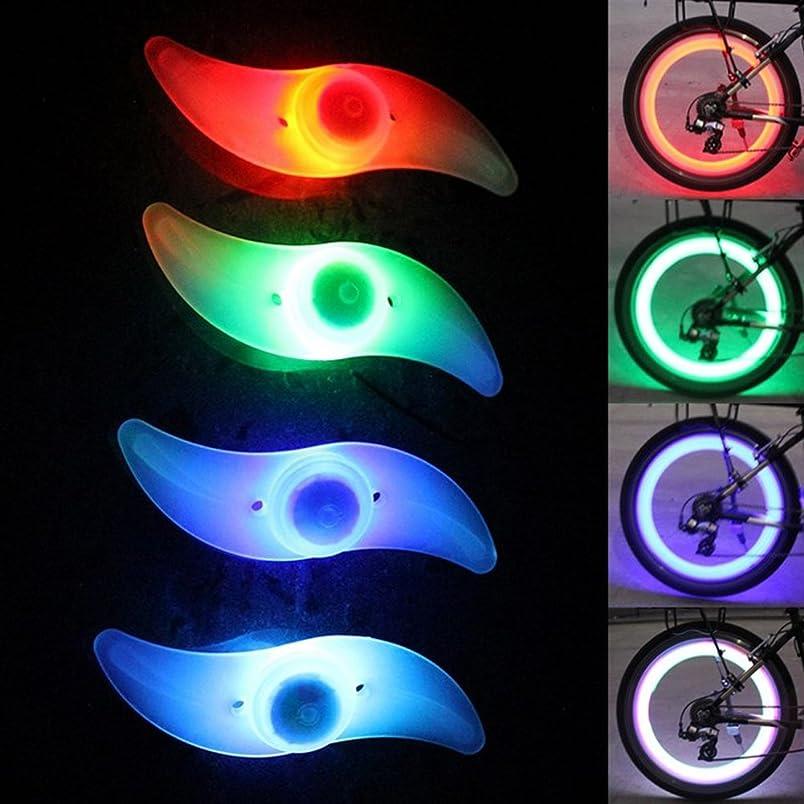 社会主義者フィットネス側溝自転車ホイールライト (4個セット) 自転車用スポークLEDライト 夜間セーフティライト 夜道 安全警告ライト 簡単 防水 取り付け タイヤライト