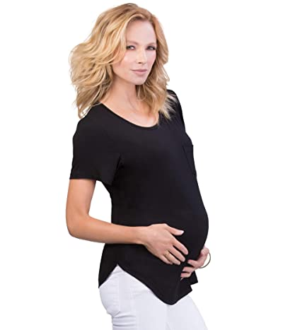 Belly Bandit Viscose from Bamboo Perfect Nursing Tee (Black) Women