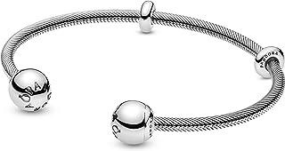 باندورا مجوهرات شكل سلسلة الأفعى سوار مفتوح من الفضة الاسترليني سوار