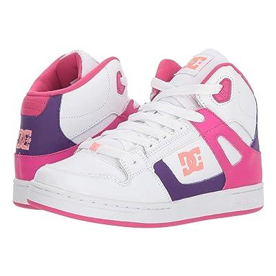 DC Kids Pure High-Top SE (Little Kid/Big Kid) (White/Multi) Girls Shoes