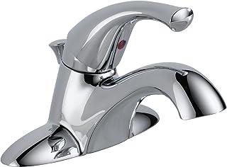 Delta Faucet 521-ECO-DST-A Single Handle Centerset Bathroom Faucet, Chrome,